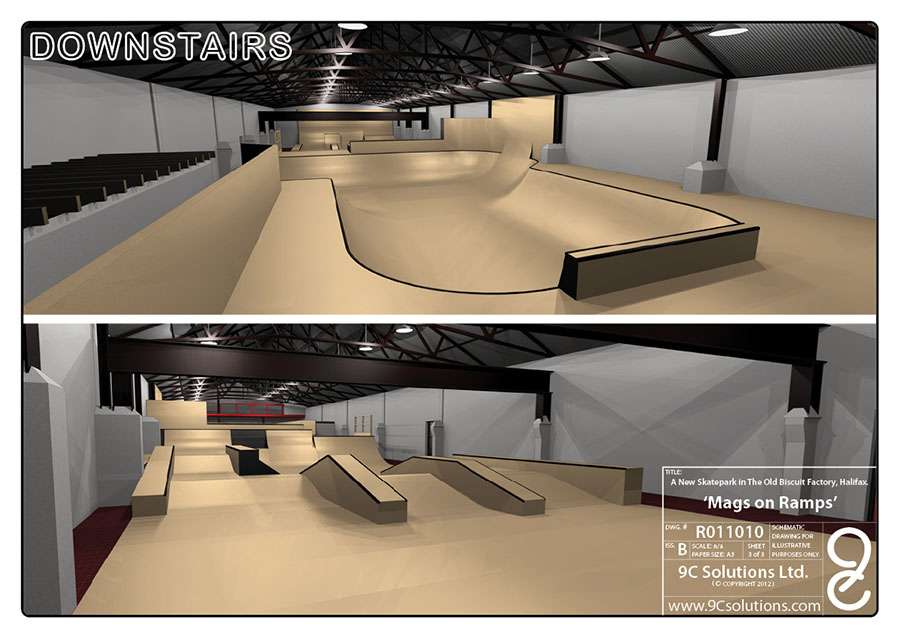 Home mags on ramps skatepark uk for Indoor skatepark design uk